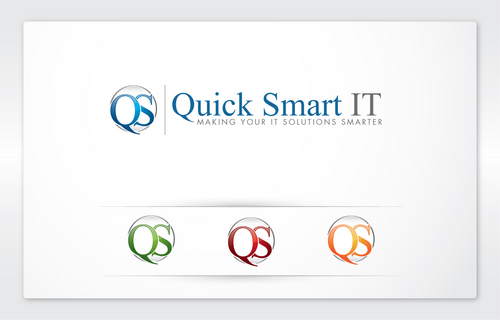 Quick Smart IT Business Cards and Stationery  Draft # 11 by cArnn
