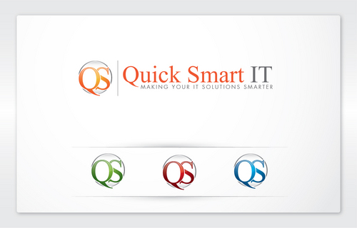 Quick Smart IT Business Cards and Stationery  Draft # 16 by cArnn