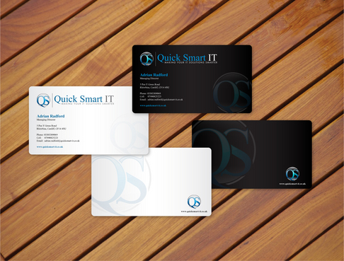 Quick Smart IT Business Cards and Stationery  Draft # 27 by cArnn