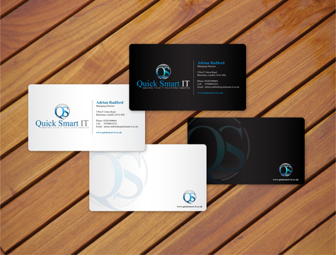 Quick Smart IT Business Cards and Stationery  Draft # 28 by cArnn