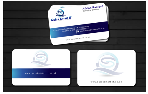 Quick Smart IT Business Cards and Stationery  Draft # 34 by shaali06