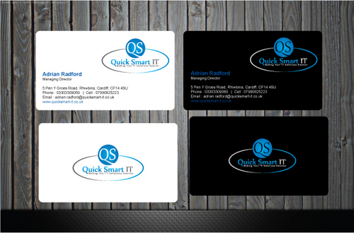 Quick Smart IT Business Cards and Stationery  Draft # 37 by GenBullzzzz