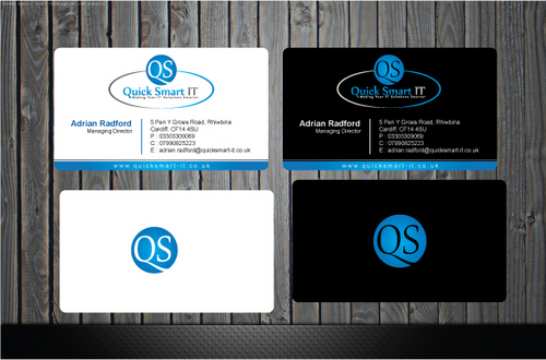 Quick Smart IT Business Cards and Stationery  Draft # 38 by GenBullzzzz