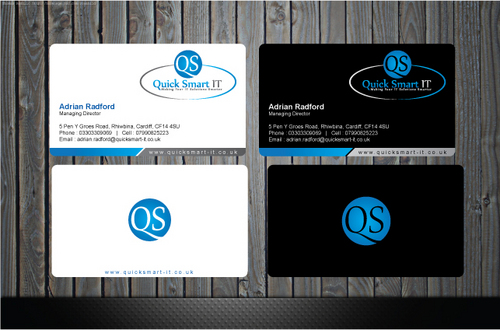 Quick Smart IT Business Cards and Stationery  Draft # 39 by GenBullzzzz