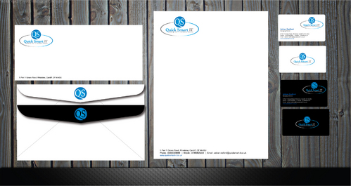 Quick Smart IT Business Cards and Stationery  Draft # 45 by GenBullzzzz