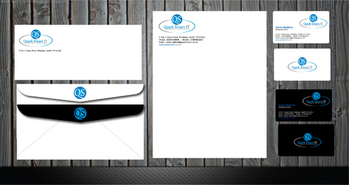 Quick Smart IT Business Cards and Stationery  Draft # 46 by GenBullzzzz
