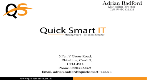 Quick Smart IT Business Cards and Stationery  Draft # 58 by sevensky