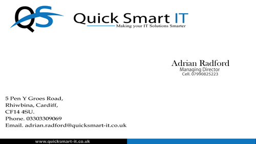 Quick Smart IT Business Cards and Stationery  Draft # 59 by sevensky