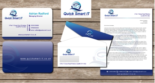 Quick Smart IT Business Cards and Stationery  Draft # 60 by shaali06