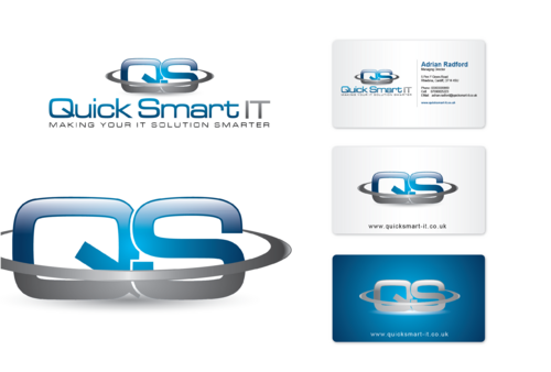 Quick Smart IT Business Cards and Stationery  Draft # 64 by cArnn