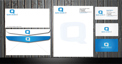 Quick Smart IT Business Cards and Stationery  Draft # 66 by GenBullzzzz