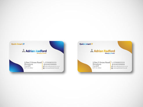 Quick Smart IT Business Cards and Stationery  Draft # 68 by ProtonKid13