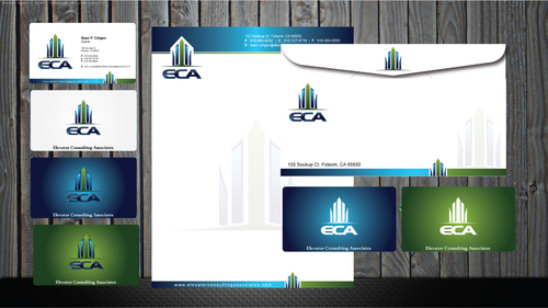 One sided bus card - business letterhead