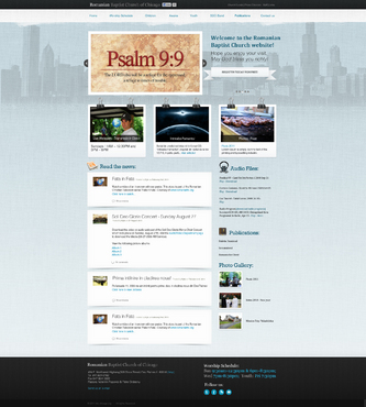 Website design for Romanian Baptist Chruch