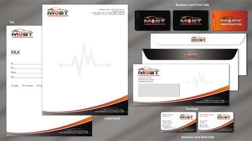 Business Card, Stationery, Envelopes in German Size