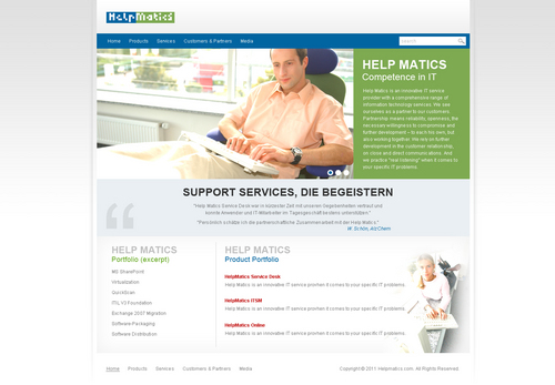 New Website for our product HelpMatics