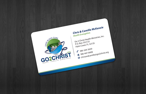Go 2 Christ Health Ministries, Inc Business Cards and Stationery  Draft # 1 by einsanimation