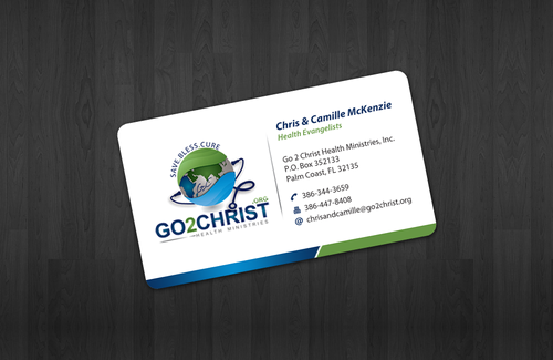 Go 2 Christ Health Ministries, Inc Business Cards and Stationery  Draft # 3 by einsanimation