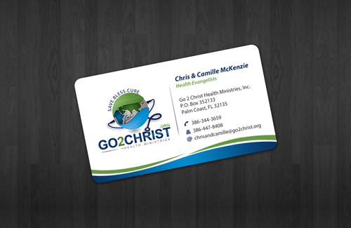 Go 2 Christ Health Ministries, Inc Business Cards and Stationery  Draft # 4 by einsanimation