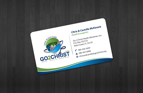 Go 2 Christ Health Ministries, Inc Business Cards and Stationery  Draft # 5 by einsanimation