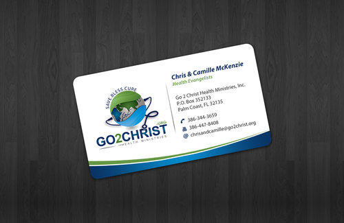 Go 2 Christ Health Ministries, Inc Business Cards and Stationery  Draft # 8 by einsanimation
