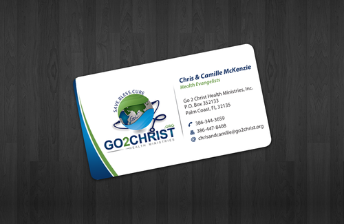 Go 2 Christ Health Ministries, Inc Business Cards and Stationery  Draft # 10 by einsanimation