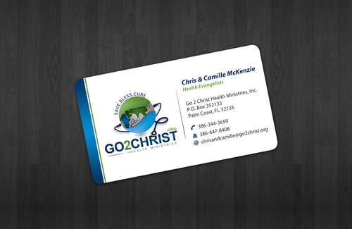 Go 2 Christ Health Ministries, Inc Business Cards and Stationery  Draft # 12 by einsanimation
