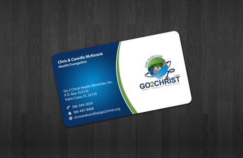 Go 2 Christ Health Ministries, Inc Business Cards and Stationery  Draft # 16 by einsanimation
