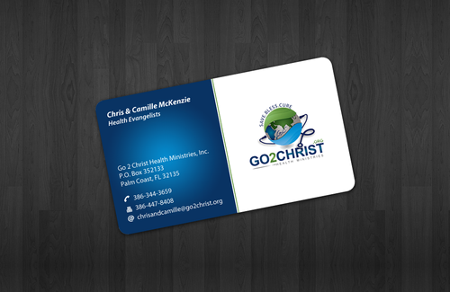 Go 2 Christ Health Ministries, Inc Business Cards and Stationery  Draft # 17 by einsanimation