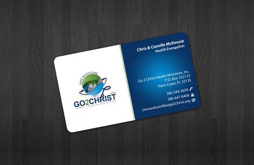 Go 2 Christ Health Ministries, Inc Business Cards and Stationery  Draft # 21 by einsanimation