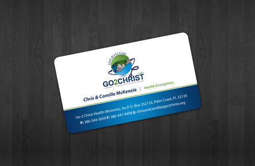 Go 2 Christ Health Ministries, Inc Business Cards and Stationery  Draft # 22 by einsanimation