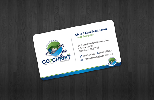 Go 2 Christ Health Ministries, Inc Business Cards and Stationery  Draft # 25 by einsanimation