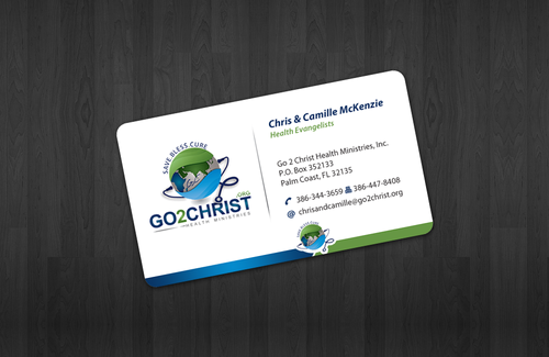 Go 2 Christ Health Ministries, Inc Business Cards and Stationery  Draft # 26 by einsanimation