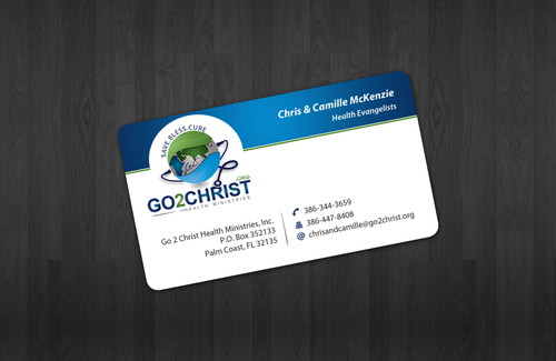 Go 2 Christ Health Ministries, Inc Business Cards and Stationery  Draft # 28 by einsanimation