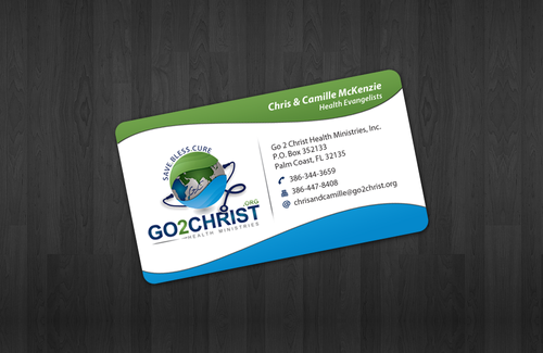 Go 2 Christ Health Ministries, Inc Business Cards and Stationery  Draft # 33 by einsanimation