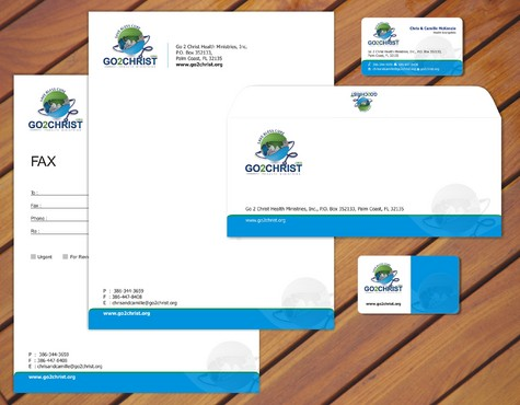 Go 2 Christ Health Ministries, Inc Business Cards and Stationery  Draft # 38 by smartinfo