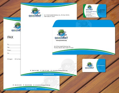 Go 2 Christ Health Ministries, Inc Business Cards and Stationery  Draft # 39 by smartinfo