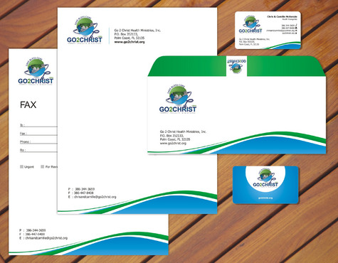 Go 2 Christ Health Ministries, Inc Business Cards and Stationery  Draft # 41 by smartinfo