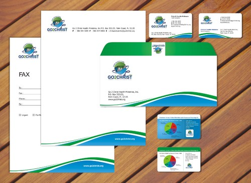 Go 2 Christ Health Ministries, Inc Business Cards and Stationery  Draft # 42 by smartinfo