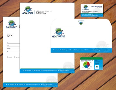 Go 2 Christ Health Ministries, Inc Business Cards and Stationery  Draft # 43 by smartinfo