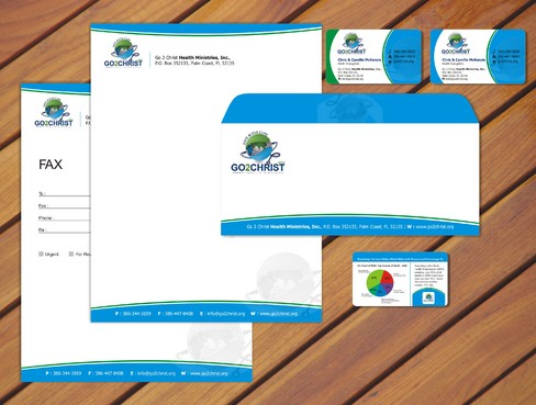 Go 2 Christ Health Ministries, Inc Business Cards and Stationery  Draft # 70 by smartinfo