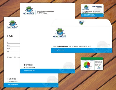 Go 2 Christ Health Ministries, Inc Business Cards and Stationery  Draft # 71 by smartinfo