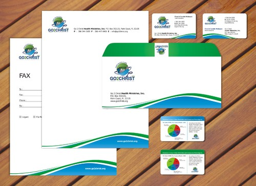 Go 2 Christ Health Ministries, Inc Business Cards and Stationery  Draft # 72 by smartinfo