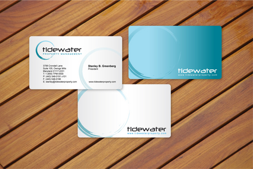 Tidewater Property Management, Inc. Business Cards and Stationery  Draft # 2 by cArnn