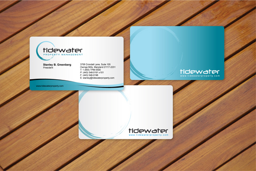 Tidewater Property Management, Inc. Business Cards and Stationery  Draft # 5 by cArnn