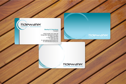 Tidewater Property Management, Inc. Business Cards and Stationery  Draft # 8 by cArnn