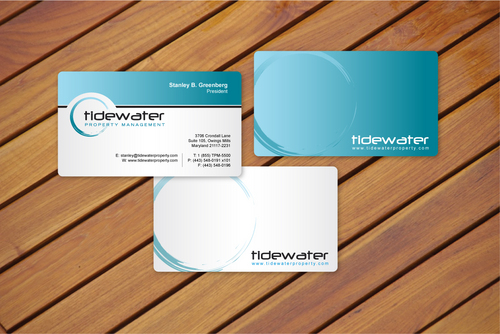 Tidewater Property Management, Inc. Business Cards and Stationery  Draft # 9 by cArnn
