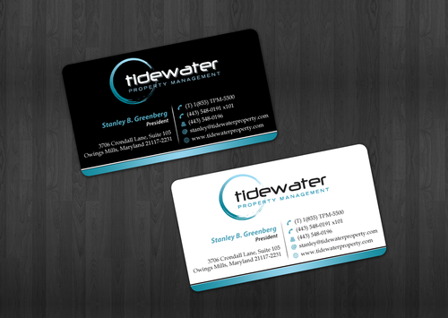 Tidewater Property Management, Inc. Business Cards and Stationery  Draft # 26 by einsanimation