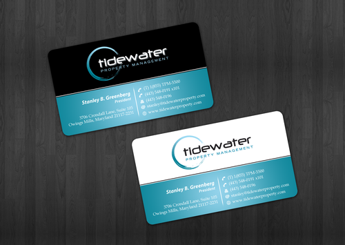 Tidewater Property Management, Inc. Business Cards and Stationery  Draft # 44 by einsanimation