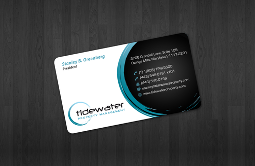 Tidewater Property Management, Inc. Business Cards and Stationery  Draft # 46 by einsanimation